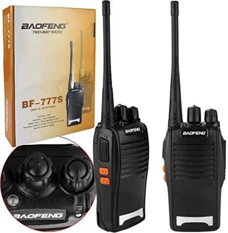Kit 2 Rádio Comunicador Profissional Walk Talk Baofeng 777s + Fone