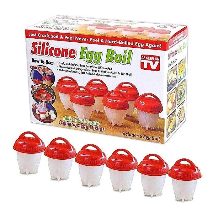 Kit K Formas de Silicone para Cozinhar Ovos sem Casca
