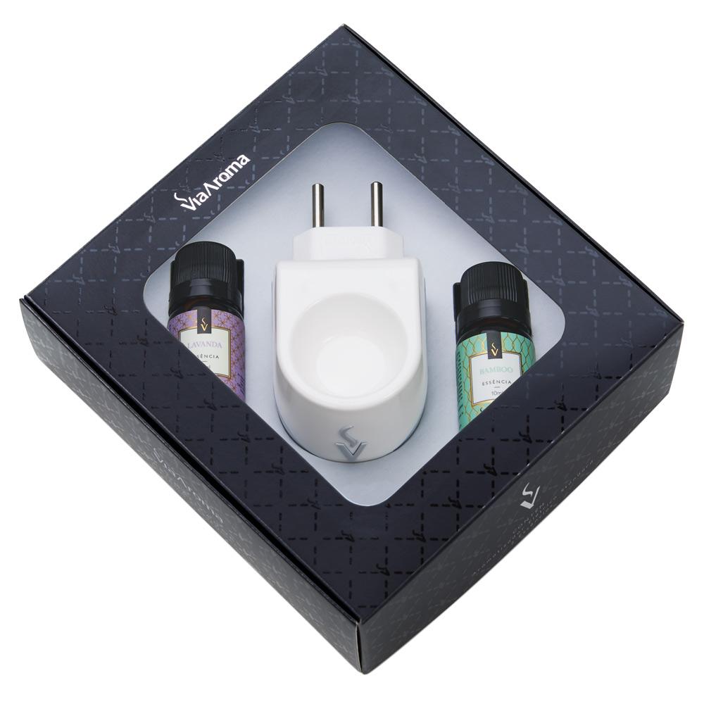 Kit Difusor Aromatizador Elétrico Standart com 2 Essência 10ml