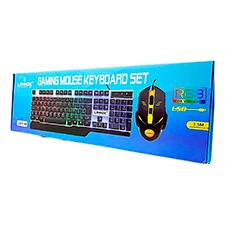 Kit Teclado E Mouse Gamer C/ Rgb Usb Lehmox Ley-45