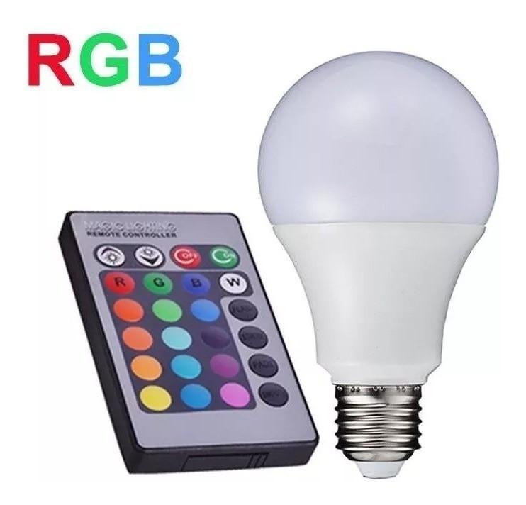 Lâmpada Bulbo Led Colorida Rgb 15w Controle Remoto E27 Bivolt