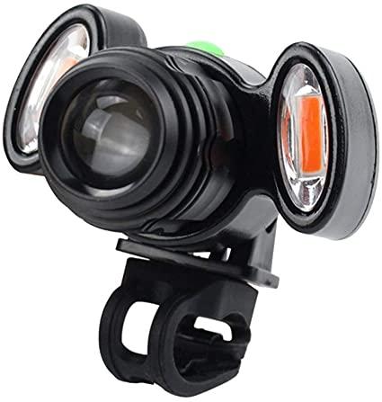 Farol Lanterna Luminária Led Bike Bicicleta Com Sinalizador Recarregável Ecooda EC-6085