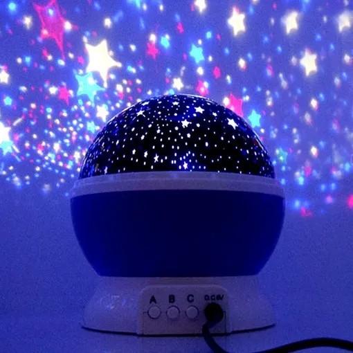 Luminária Cósmica Projetor Estrela 360º Abajur Star Master Azul