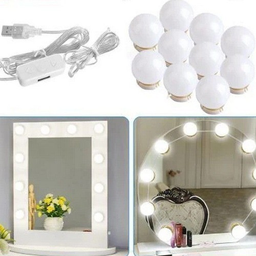 Luminária Led Camarim Maquiagem 10 Luzes  - 4,5 Metros Usb Bivolt