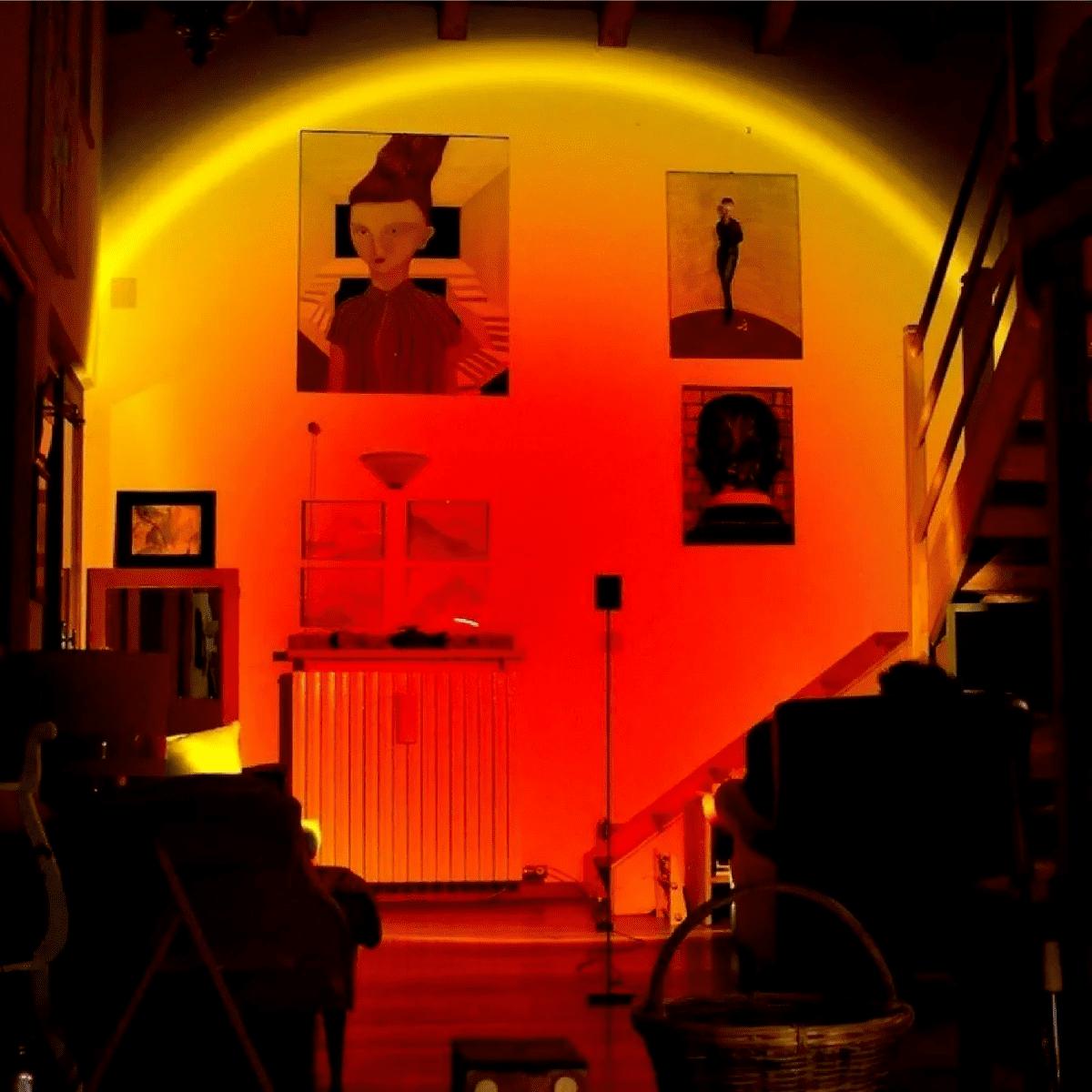 Luminária Por Do Sol Luz Noturna Projetor Led Gold Sunset