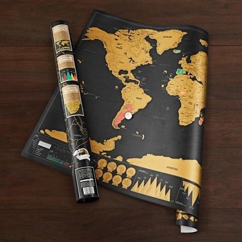 Mapa Mundi Raaspadinha Scratch Map 30x43cm