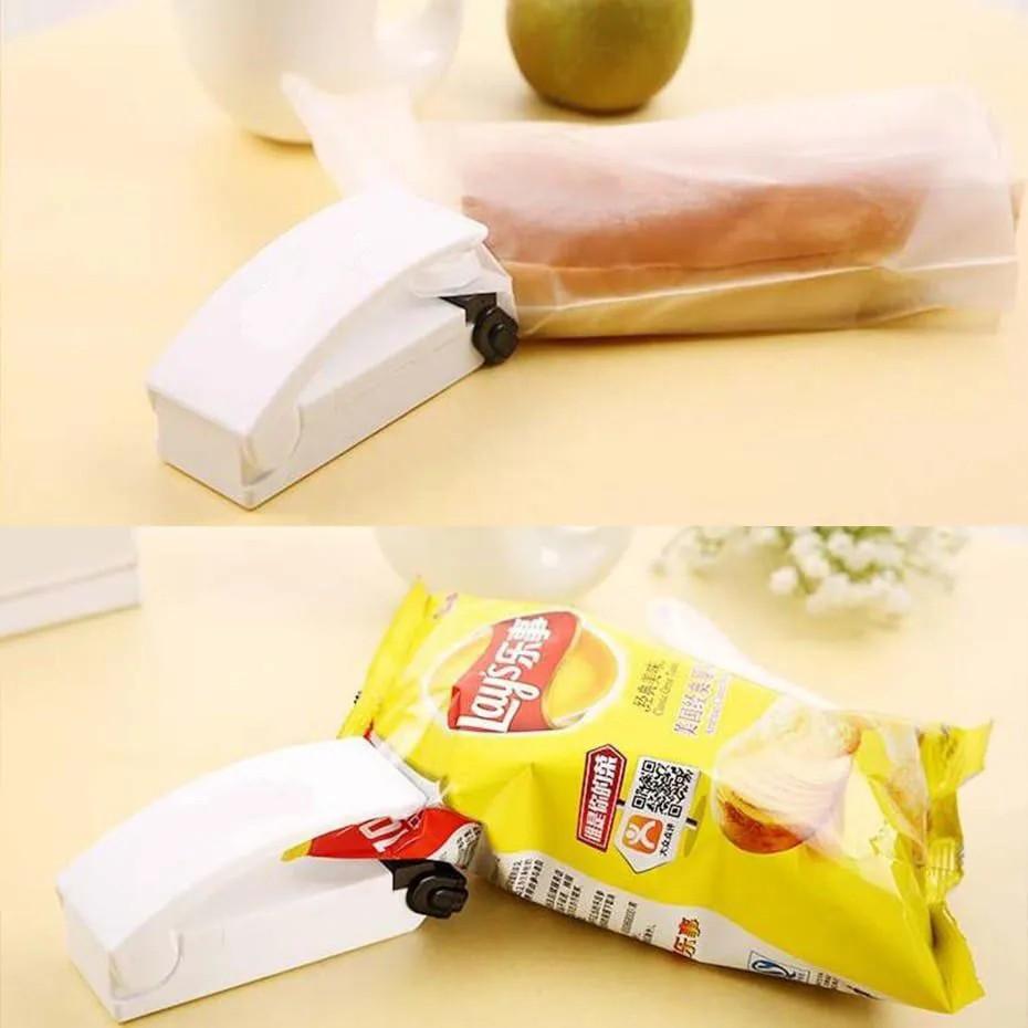 Mini Seladora Para Sacos Plásticos Portátil Prático Pilha