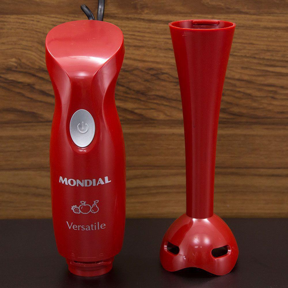 Mixer Versatile Mondial Lâmina em Aço Inox Vermelho 220V.
