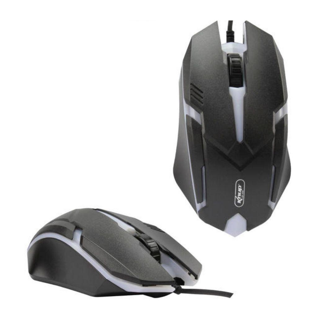 Mouse Gamer Led 1600 Dpi 3 Botões Knup Kp-v15