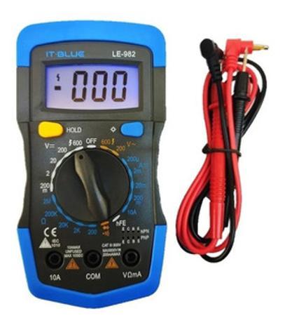 Multímetro Digital Profissional Portátil It- Blue LE-982