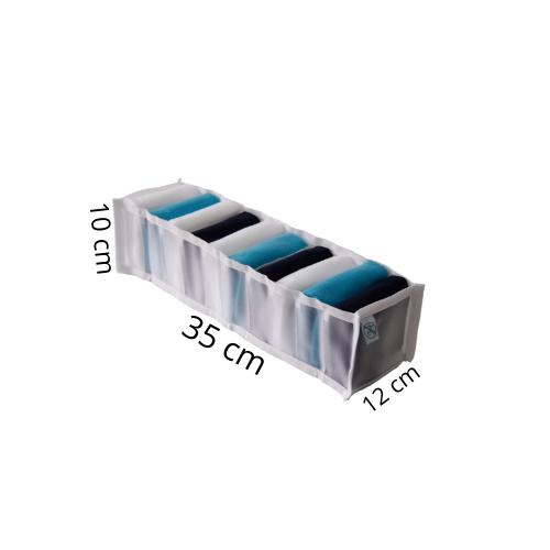 Organizador de Gavetas Colméia Transparente 11 Compartimentos 35x12x10cm