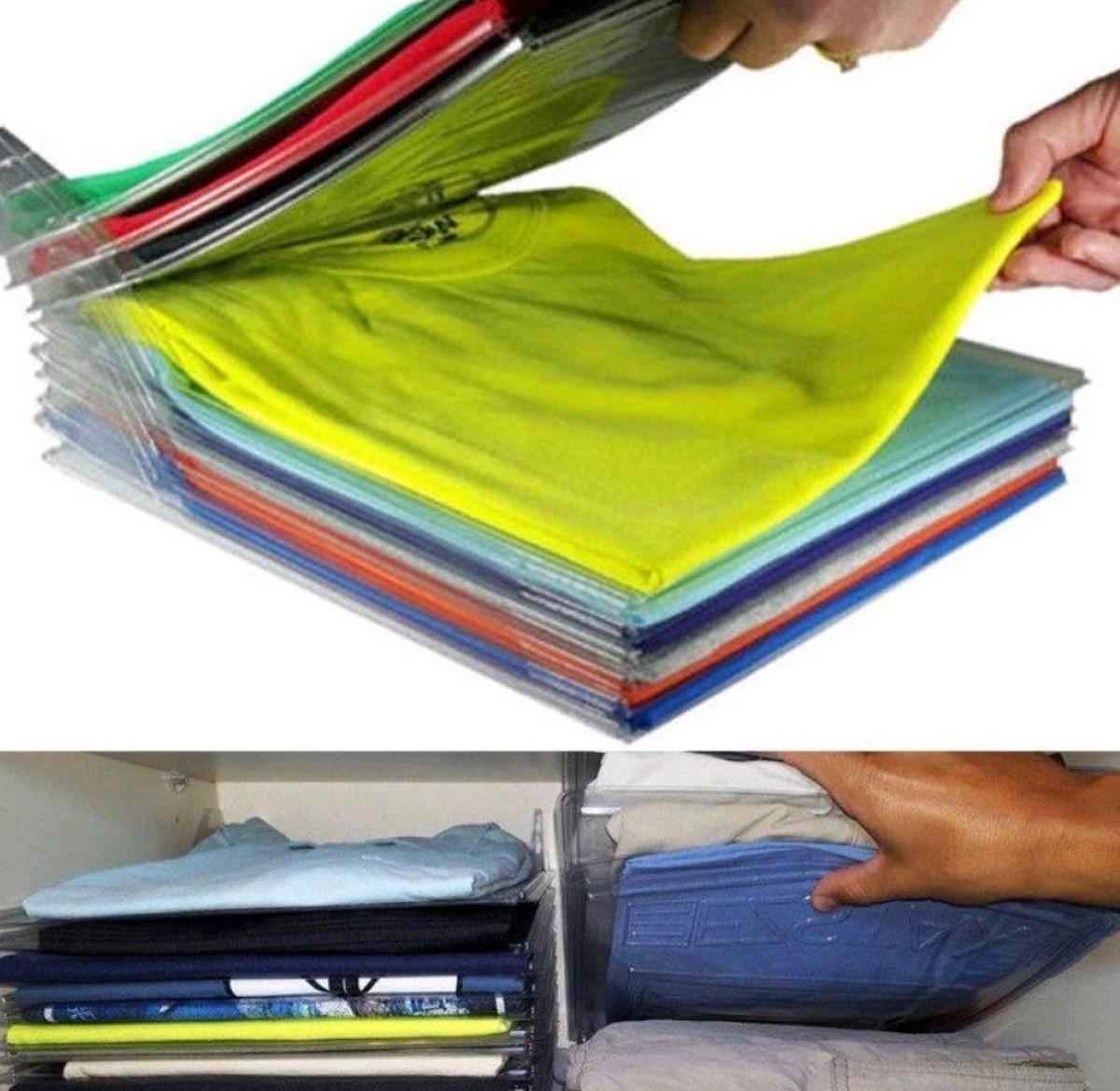 Organizador de Camisetas e Roupas Kit com 10 Divisórias