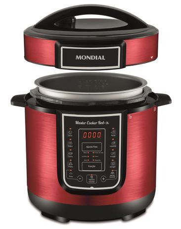 Panela Elétrica de Pressão Mondial Digital Master Cooker PE-41 3 Litros - Vermelha