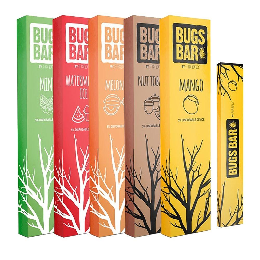 Pods Descartáveis Bugs Bar Vários Sabores