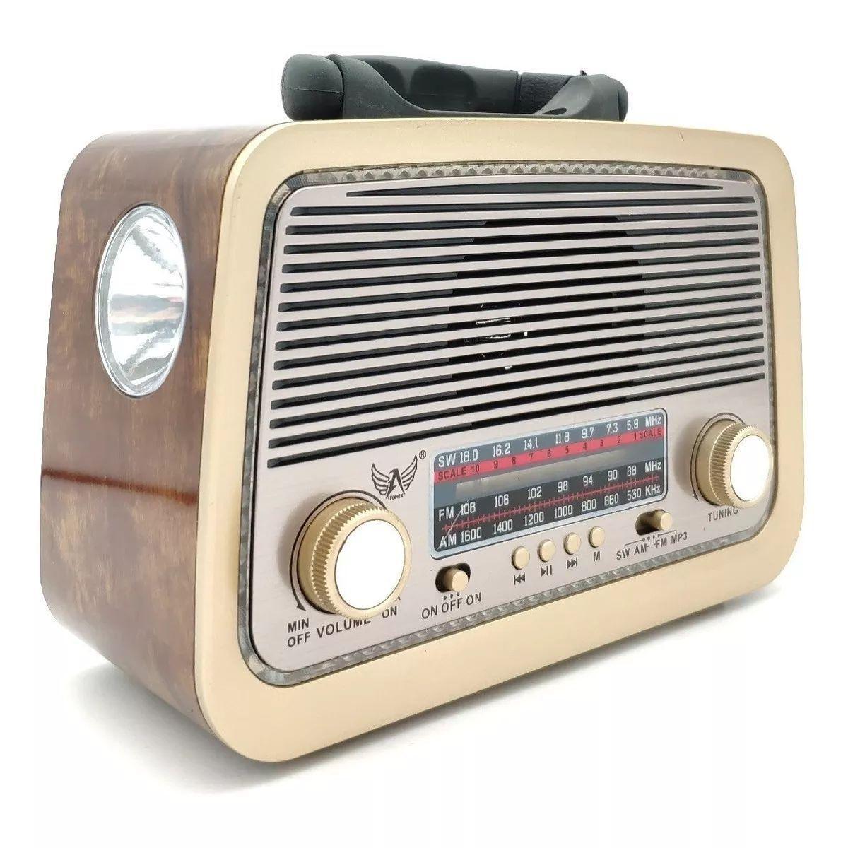 Rádio Retrô Vintage Am Fm Sw Usb Mp3 Bluetooth Bivolt Ltomex A-3188T