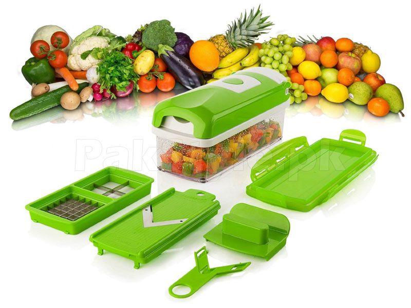 Ralador Fatiador Picador de Legumes Frutas Nicer Dicer Plus