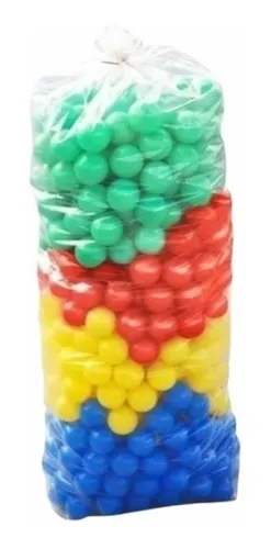 Saco De Bolas De Piscina Coloridas Infantil 100 Un Bolinhas