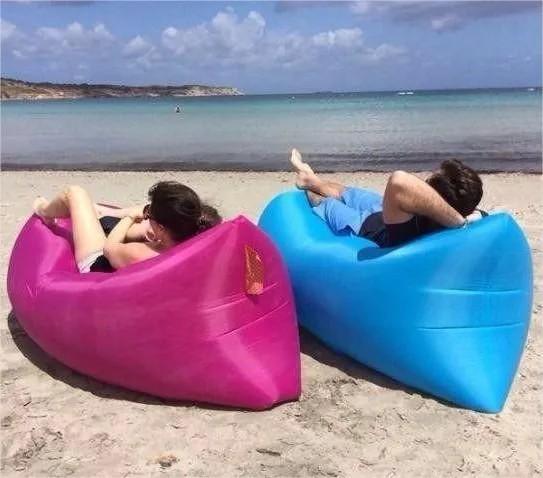 Saco Sofá de Ar Inflável Enche Fácil - Praia - Campo