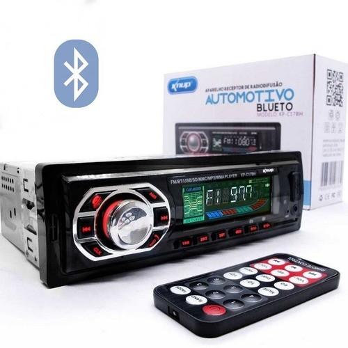 Som Automotivo Mp3 Player Bluetooth Pendrive Sd Knup KP-C18BH