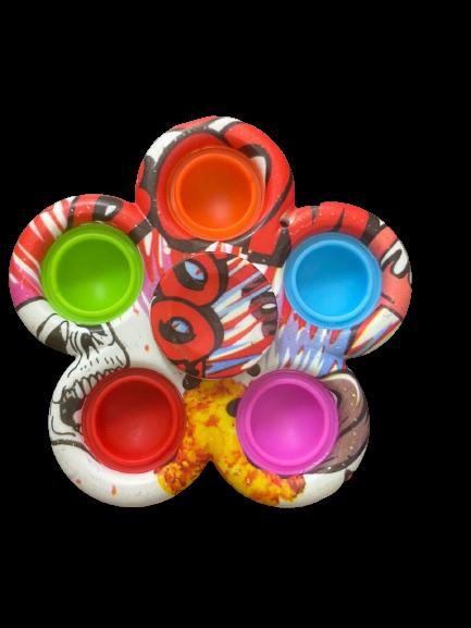 Spinner Pop It Fidget Toy - Brinquedo Sensorial