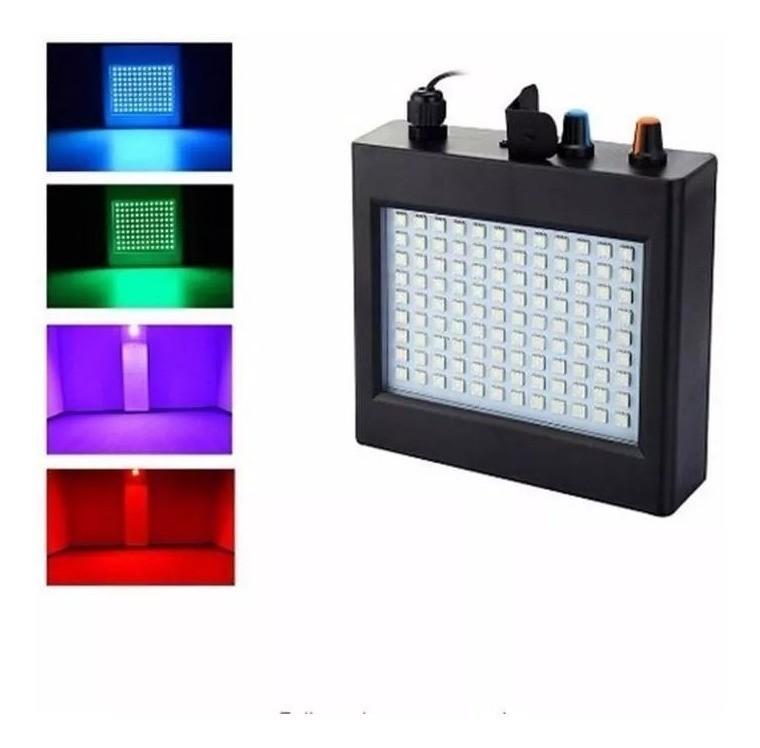 Strobo Flash Jogo de Luz Led Colorido RGB LK-108