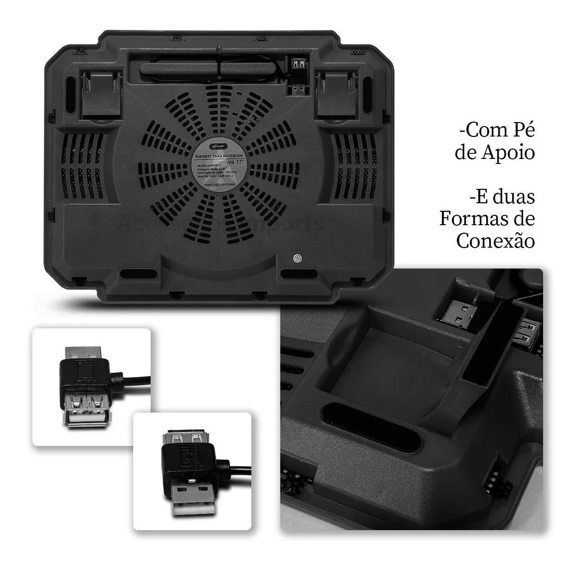 "Base cooler Suporte Para Notebook até 15,4"" Knup Kp-9014"