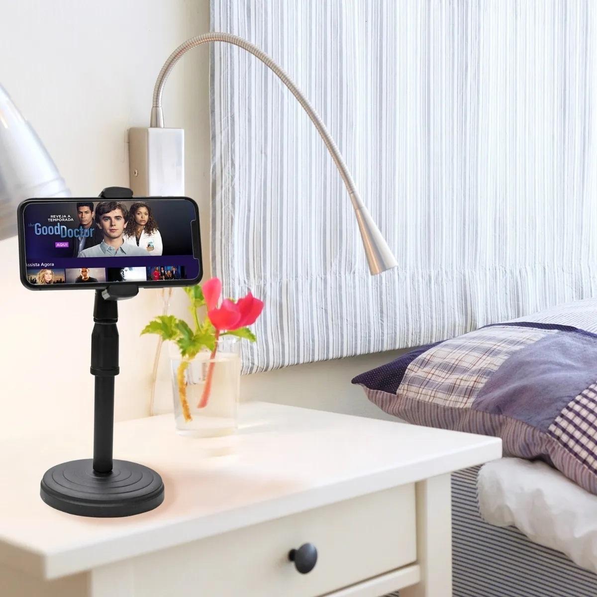 Suporte Tripé Celular Smartphone Mesa Portátil Selfie 360º