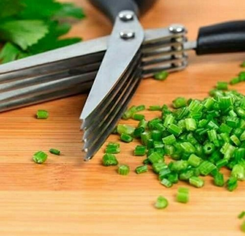 Tesoura Culinária Cozinha Ervas Tempero Cheiro Verde