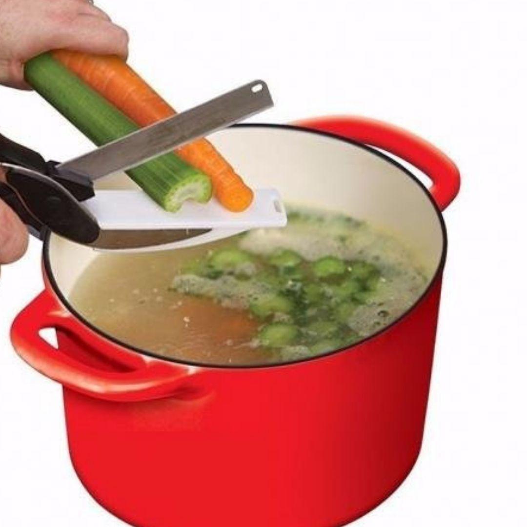 Tesoura para Cortar Legumes Verduras Carne 2 em 1
