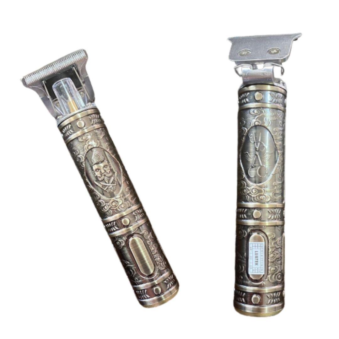 Trimmer Hair Clipper Máquina Cortar Cabelo e Barba Recarregável Bivolt 4 Pentes