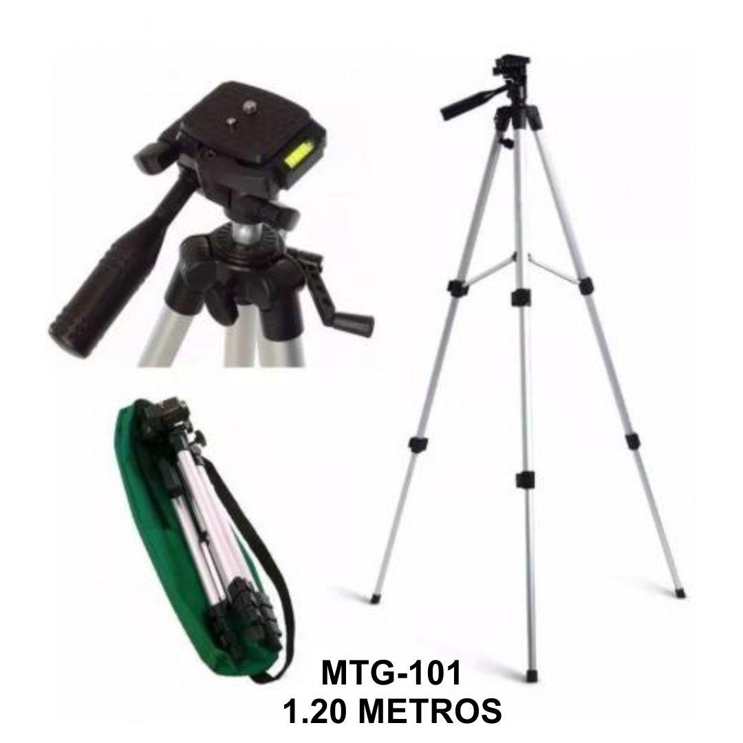 Tripé Suporte de Celular e Câmera Digital 1,20m MTG-101