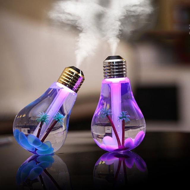 Umidificador e Aromatizador de Ambiente Lâmpada Led