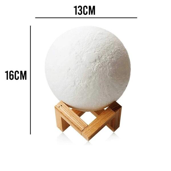 Umidificador Luminária Abajur Lua Cheia 880ml Vaporizadora