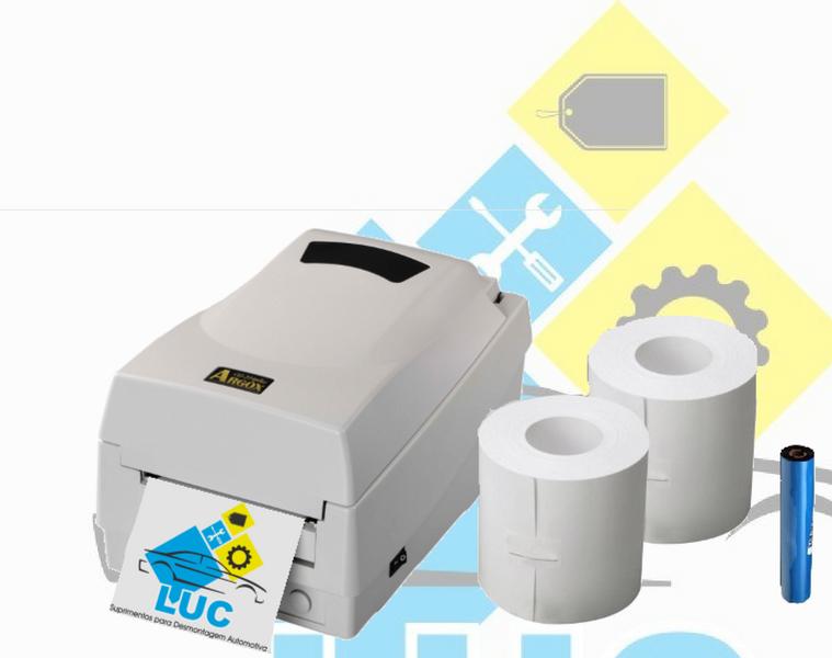 Impressora Argox Os-214 Plus Com Kit Ribbon e Rolo Tags  - LUC
