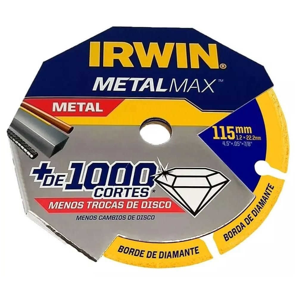 "Disco de Corte Diamant. Metalmax 4.5""x 0.5""x 7/8"" - 115mm (IRWIN 1998845)  - LUC"