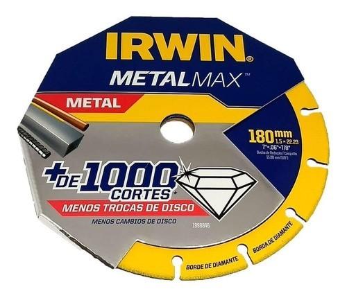 """Disco de Corte Diamantado Metalmax 7""""x 0,6""""x 7/8"""" - 180mm (IW1998846)  - LUC"""