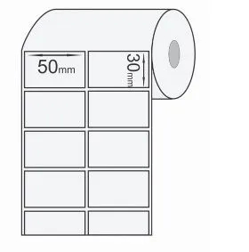 ETIQUETA COM COLA BOPP FILEIRA DUPLA (50 X 30mm) - 45M  - LUC