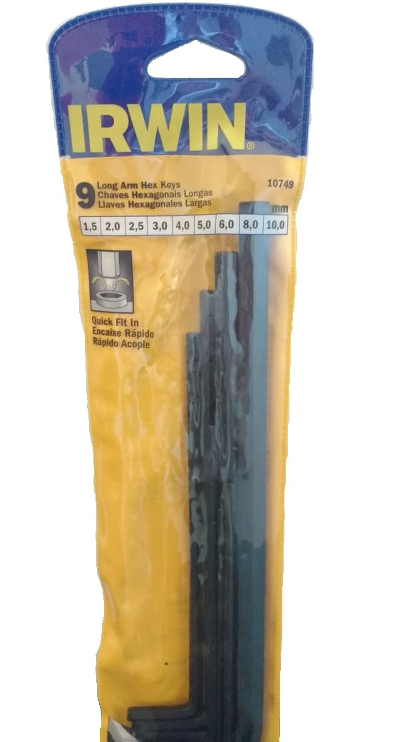 Conjunto Chave Hexagonal L Longas (1,5 à 10 mm) 9 Peças  - LUC