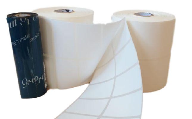 KIT ETIQUETA BOPP (50 X 30mm) -  2 ROLOS BOPP + 1 RIBBON  - LUC