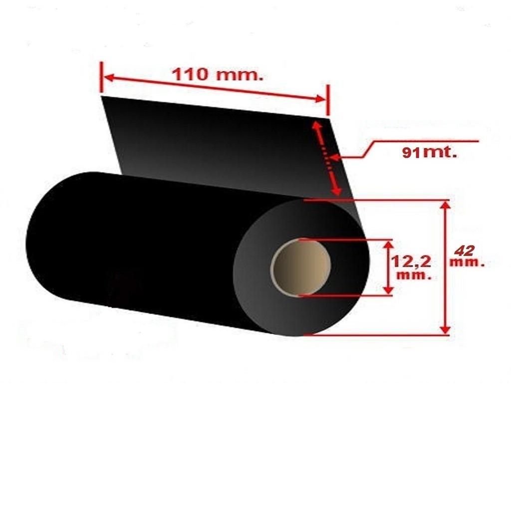 KIT ETIQUETA BOPP (100 X 60mm) - 2 ROLOS BOPP + 1 RIBBON  - LUC