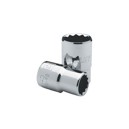 "Soquete Estriado  (Encaixe 1/2"") - 10mm - Stanley  - LUC"