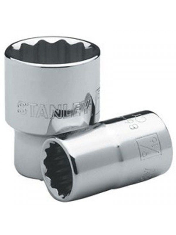 "Soquete Estriado  (Encaixe 1/2"") - 20mm - Stanley  - LUC"
