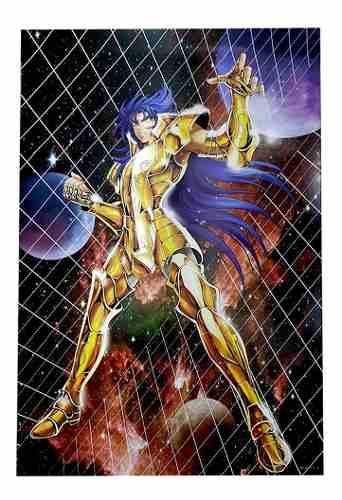 Kit 7 Poster A3 Cavaleiros Do Zodíaco Alta Qualidade Textura
