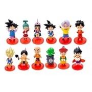 Kit Com 12 Bonecos Dragon Ball Dbz Modelo Classico Goku