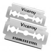 Kit Com 90 Lamina Viceroy Superior Stainless Barbearia