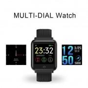 Relógio Smart Q9 Cardíaco Pressão Ip67 Saúde + Kit Pulseiras