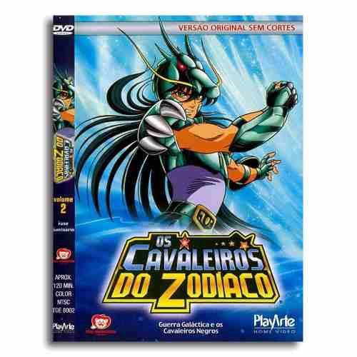 Os Cavaleiros Do Zodiaco Original Dvd Volume 2 Sem Cortes