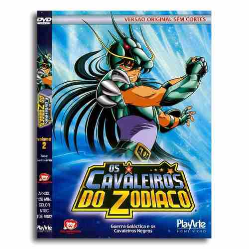 Os Cavaleiros Do Zodiaco Original Dvd Volume 2 Sem Cortes
