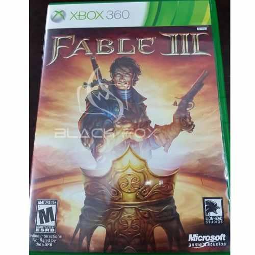 Fable 3 Fable Iii Xbox 360 Original Midia Física