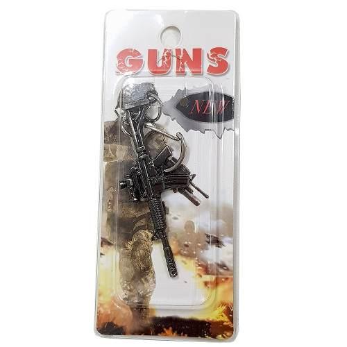 Chaveiro Arma Cross Fire Guns Metal Modelo 06
